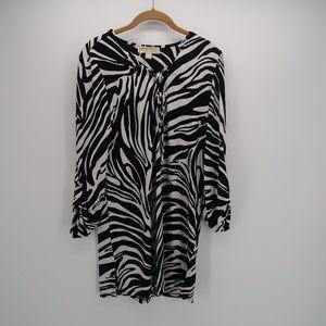 Michael Michael kors Zebra Print Long Sleeve Dress